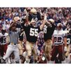 Mike Golic Notre Dame Arms Raised Autographed Photograph graph