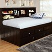 Discovery World Furniture Bookcase Daybed with 4 Drawers and Trundle