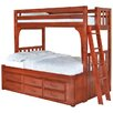 <strong>Convertible Twin over Full Six Drawer Bunk Bed</strong> by Discovery World Furniture