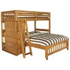 <strong>Discovery World Furniture</strong> Weston Twin over Full L-Shaped Bunk Bed with Bookshelves and Storage
