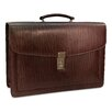 <strong>Jack Georges</strong> Belting Double Gusset Leather Briefcase