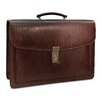 <strong>Jack Georges</strong> Belting Triple Gusset Leather Briefcase