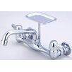 "<strong>Central Brass</strong> Wall Mount Faucet with 8"" Centers and Soap Dish"