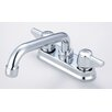 Central Brass Laundry Faucet with Swivel Spout and Double Canopy Handle