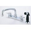 Double Handle Centerset Kitchen Faucet with Side Spray and Hose