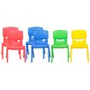 ECR4kids Resin Kids Chair (Set of 6)