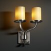 "Justice Design Group CandleAria Sonoma 13"" 2 Light Wall Sconce"