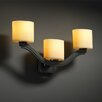 <strong>Justice Design Group</strong> CandleAria Bend 3 Light Wall Sconce