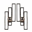 <strong>Mikasa</strong> Metal and Glass Sconces (Set of 2)