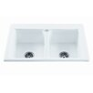 "Reliance Whirlpools Reliance 33.25"" x 22.25"" Endurance Double Bowl Kitchen Sink"
