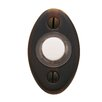 """Baldwin 2"""" x 1.125"""" Oval Doorbell Button"""