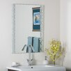 <strong>Decor Wonderland</strong> Frameless Butterfly Wall Mirror