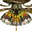 "<strong>Meyda Tiffany</strong> 4"" Tiffany Bell Ceiling Fan Fitter Shade"