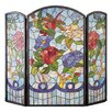 <strong>Meyda Tiffany</strong> Dragonfly Flower 3 Panel Fireplace Screen