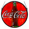 <strong>Meyda Tiffany</strong> Tiffany Coca-Cola Button Medallion Stained Glass Window