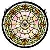 Meyda Tiffany Tiffany Fleur-De-Lis Medallion Stained Glass Window