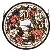 Meyda Tiffany Revival Wreath and Garland Medallion Stained Glass Window