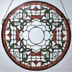 <strong>Meyda Tiffany</strong> Victorian Tulip Bevel Medallion Stained Glass Window