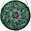 <strong>Meyda Tiffany</strong> Tiffany Nouveau Insects Dragonfly Swirl Medallion Window in Green