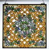 <strong>Meyda Tiffany</strong> Tiffany Shamrock Garden Stained Glass Window