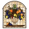 <strong>Victorian Fruitbowl Stained Glass Window</strong> by Meyda Tiffany