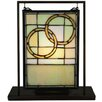 "<strong>Wedding Mini Tabletop Window 10.5"" H Table Lamp</strong> by Meyda Tiffany"