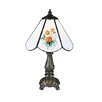 "Meyda Tiffany Floral Country Rose Bouquet Mini 11.5"" H Table Lamp with Bowl Shade"