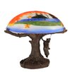 "Meyda Tiffany Maxfield Parrish Reveries Reverse Painted 13"" H Table Lamp with Bowl Shade"