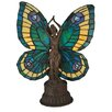 "<strong>Butterfly 17"" H Tiffany Art Glass Animals Lady Accent Table Lamp</strong> by Meyda Tiffany"