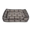 Jax & Bones Flocked Lantern Lounge Bolster Dog Bed