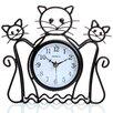 Maples Clock Silhouette Cat Table Clock
