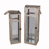 <strong>2 Piece Wood and Metal Lantern Set</strong> by Privilege