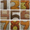 Privilege Wood Numbered 9 Piece Textual Art Set