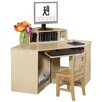 Steffy Wood Products Corner Computer Table with Keyboard Shelf