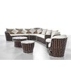 International Design USA Fawn 7 Piece Lounge Sectional Set