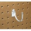 Triton Products DuraHook 2-1/4 In. Curved 2 In. I.D. Zinc Plated Steel Pegboard Hook for DuraBoard, 10 Pack