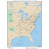 Universal Map U.S. History Wall Maps - Expansion of Railroads to 1860