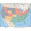 Universal Map U.S. History Wall Maps - Public School Segregation by State