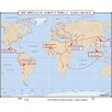 World History Wall Maps - Spread of Agriculture