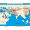 <strong>Universal Map</strong> World History Wall Maps - Eurasia & Silk Roads