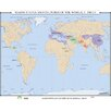 <strong>Universal Map</strong> World History Wall Maps - Major States & Cultures of the World