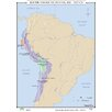 <strong>World History Wall Maps - South American States</strong> by Universal Map