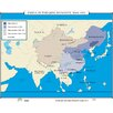 Universal Map World History Wall Maps - China in Qing Dynasty