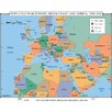 Universal Map World History Wall Maps - Post Cold War Europe, Middle East & Africa