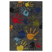 <strong>Lil Mo Whimsy Grey Finger Paint Kids Rug</strong> by Momeni Lil' Mo