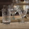 <strong>Zodax</strong> Spring Leaves Cut Design Wine Glassware (Set of 8)