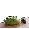 28 Oz Cast Iron Teapot in Green Mist