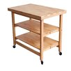 Oasis Concepts Folding Kitchen Island with Wood Top