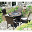 <strong>Durango 5 Piece Round Tall Dining Set</strong> by Europa Leisure