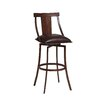 "Pastel Furniture Amrita 26"" Swivel Bar Stool with Cushion"